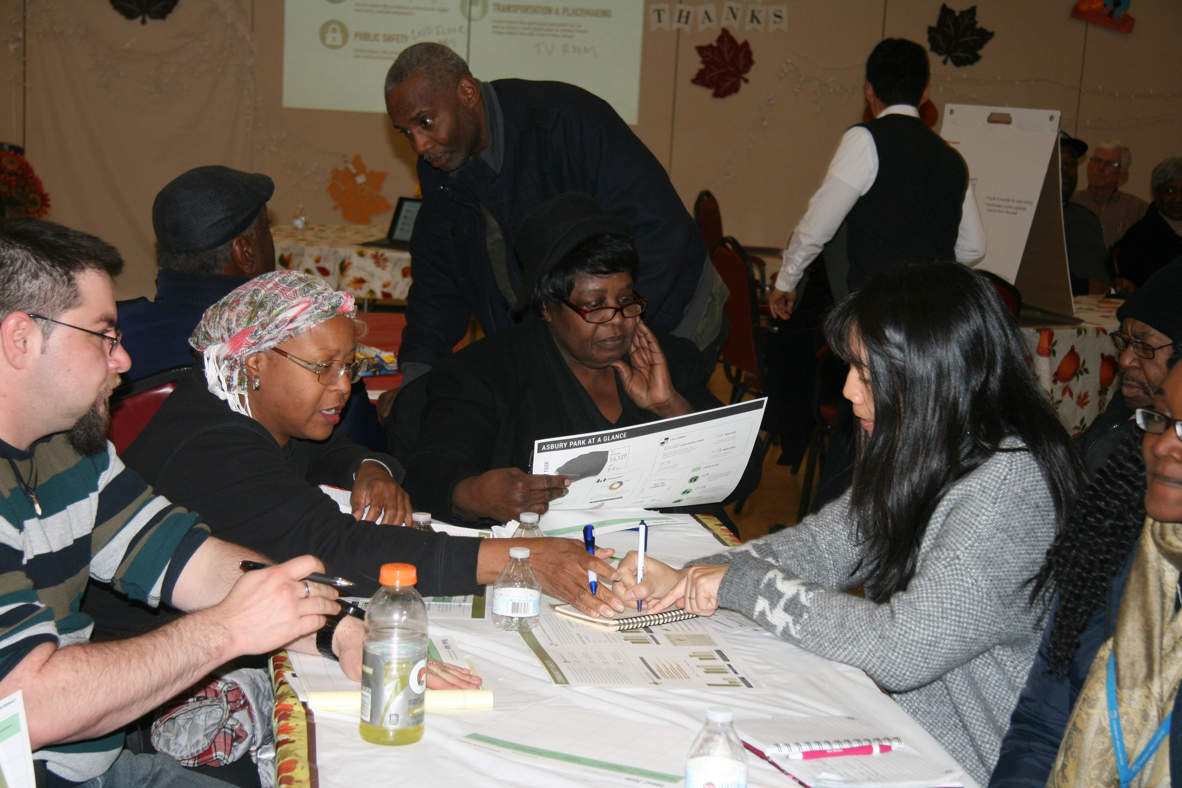 Residents And Stakeholder Organizations Break Into Working Groups To Discuss Concerns And Goals For The Neighborhood, November 2016. Credit: WRT