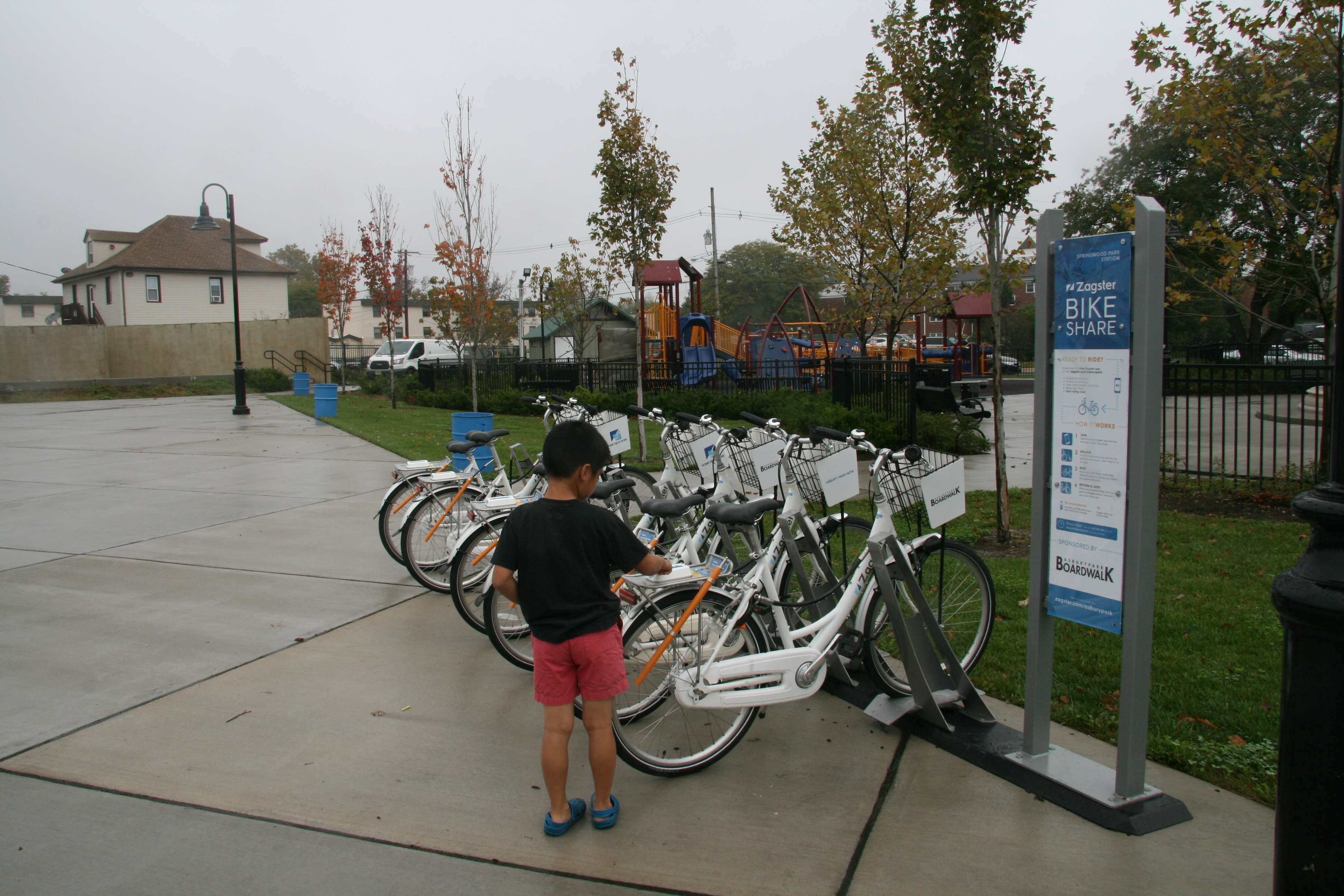 The Newly Installed Bikeshare Station At Springwood Park
