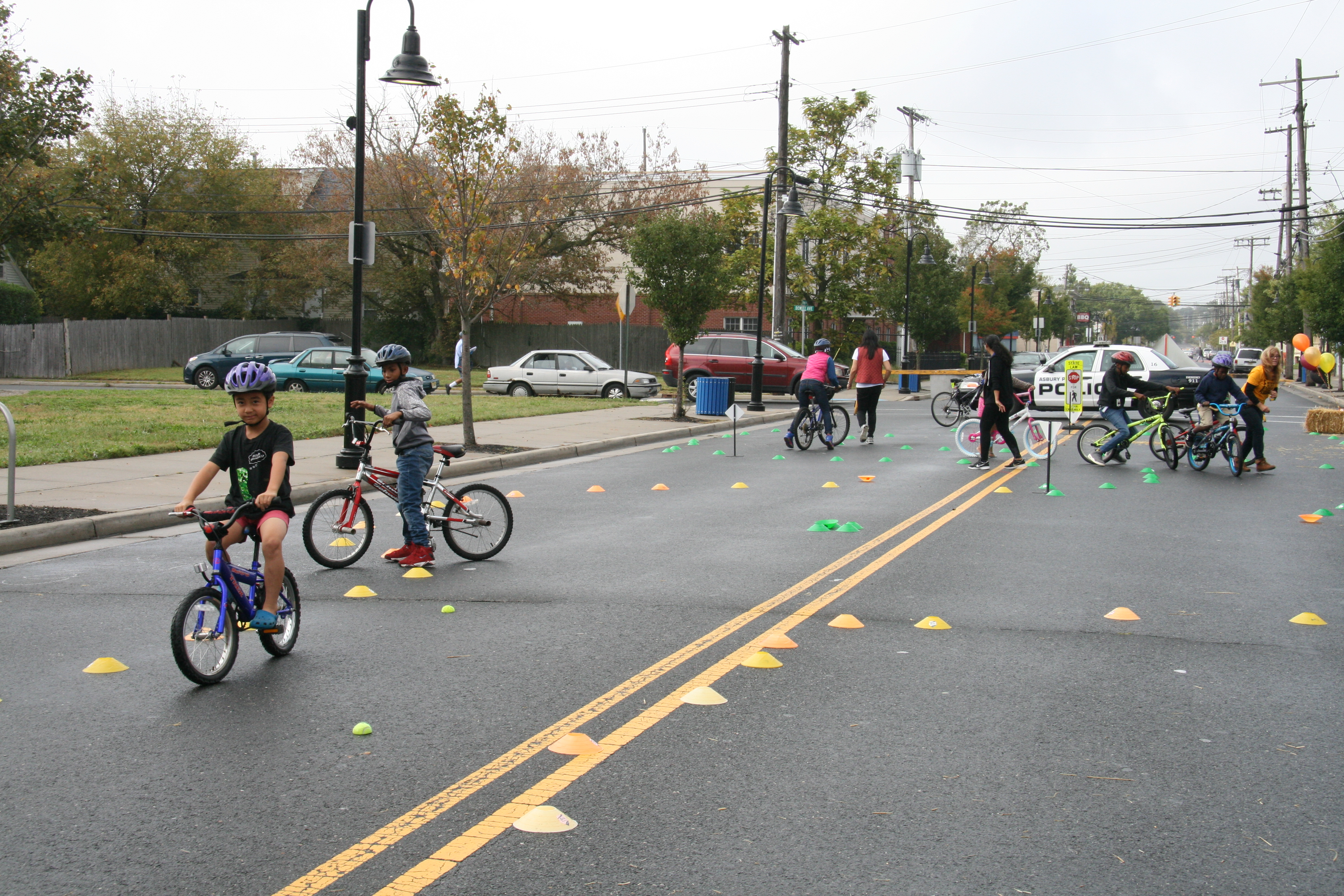 Kids Learn Bike Safety On A Temporary Course