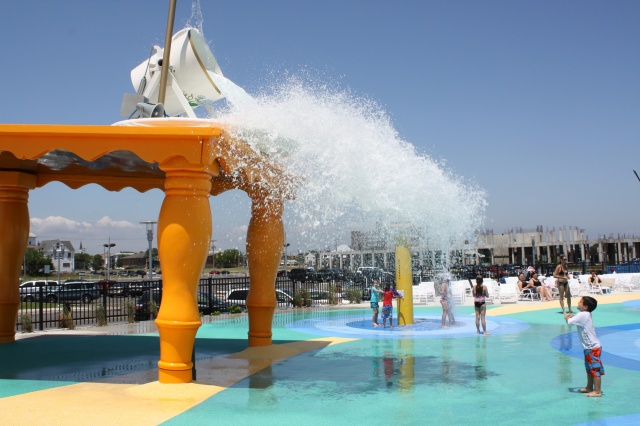 A New Splash Park Along The Boardwalk. Credit: Stacey Frielander