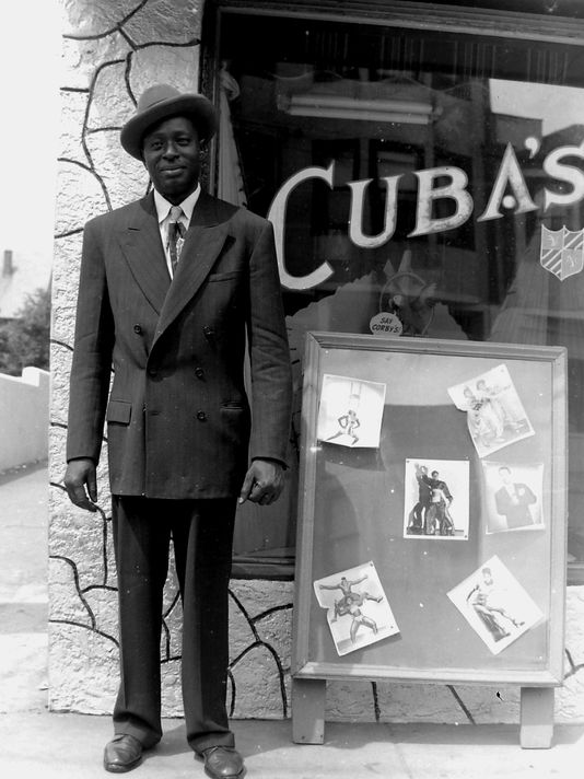 William Niblack Outside Cuba's Nightclub On The West Side. Credit: Madonna Carter Jackson